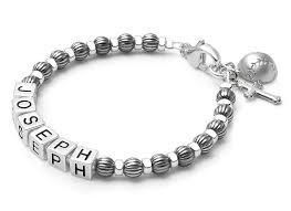 Name Bracelets Boy U0027s Oxidized Silver Baby Children U0027s Christening Baptism Name