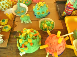 students create kitchen crafts coral reef at chs spring fling