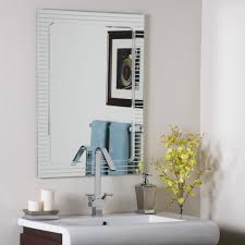 home decoration simple oval bathroom frameless mirror and oval