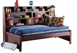 kids roomstogo league cherry 5 pc bookcase daybed beds wood