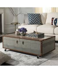 storage trunk coffee table amazing deal safavieh faux crocodile wine rack storage trunk coffee