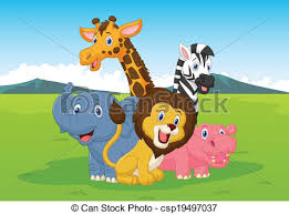 safari cartoon vector illustration of happy cartoon safari animal vectors search