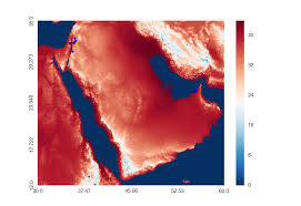 A Map Of The Middle East by Generating Real Time Heat Maps For The Middle East Region