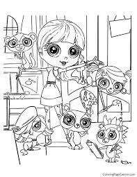 littlest pet shop printable coloring pages littlest pet shop