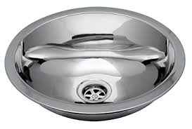 Oval Kitchen Sink Ambassador Marine Oval Stainless Steel Bottom