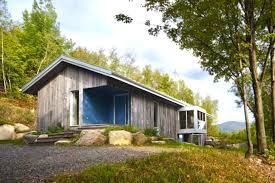 Contemporary Cabin Solitary Bromont Residence Is A Contemporary Cabin At The End Of A