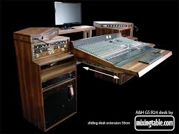 Recording Studio Desks Walnut Studio Desk For The Allen And Heath Gs R24 By Mixingtable Com