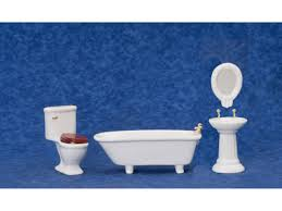 Dolls House Bathroom Furniture House Deco Plain White Bathroom Furniture Set Suite 1 12