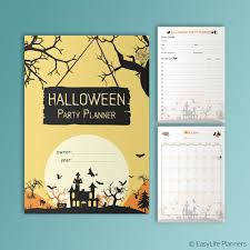 Printable Halloween Calendar Halloween Party Planner A5 Printable Filofax Inserts Halloween
