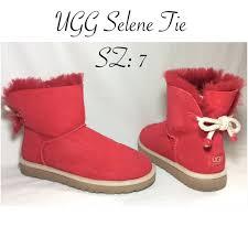 womens ugg selene mini boot 38 ugg shoes ugg selene tie mini boots sz 7 from