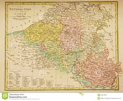 Map Of Luxembourg Antique Map Of Belgium And Luxembourg Editorial Stock Photo