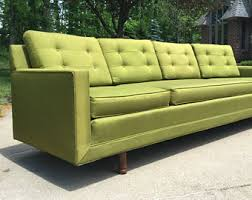 Leather Mid Century Sofa Mid Century Couch Etsy
