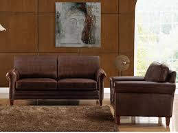canapé ée 70 canapés et fauteuils en cuir vieilli chocolat