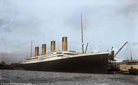 colourised images show the luxury aboard the titanic daily mail