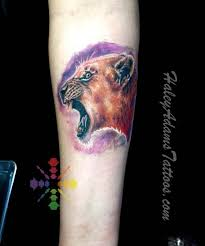 lioness tattoo by haley adams tattoos