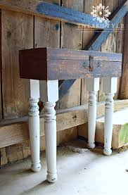attaching legs to a table tweak style blog vintage tool box table creating original