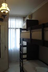 private double room with bunk beds tv and shared bathroom