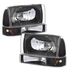 2002 ford excursion tail lights ford f250 super duty 1999 2004 black headlights bumper lights and
