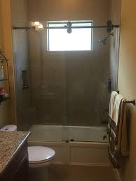 heavy glass shower door barn style glass shower doors the glass shoppe a division of