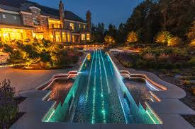 Cool Swimming Pool Ideas by Swimming Pool Lighting Design Cool Awesome Long Swimming Pool