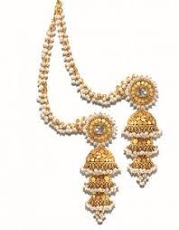 jhumka earrings with chain pearl ear chains search earrings gold jhumka
