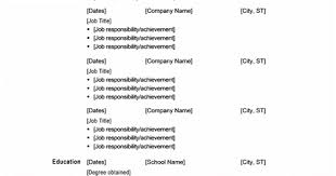 Chronological Resume Templates Microsoft Office 365 Sle Resume Templates Chronological Resume