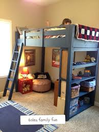 Bed Loft With Desk Plans by Desk Bunk Bed Loft With Desk Plans Loft Bed Plans Ana White Full