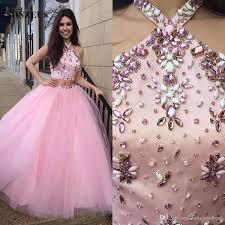 quinceaneras dresses quinceanera dresses rhinestones beaded crop top pink