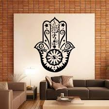 buddhist home decor art design hamsa hand wall decal vinyl fatima yoga vibes sticker