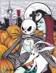 jack skellington sally color by chrisozfulton on deviantart
