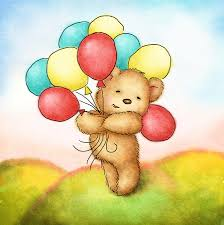teddy balloons teddy with colorfull balloons canvas print canvas by