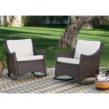 Outdoor Furniture Wicker Resin by Outdoor Resin Wicker Rocking Chairs On Hayneedle Wicker Rocking