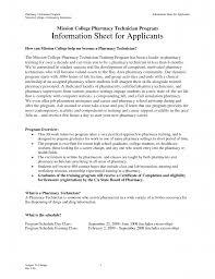 Cvs Pharmacy Resume Cover Letter Sample Resume For Pharmacy Technician Sample Resume