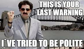 Borat Not Meme - angry borat meme generator imgflip