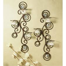 Candle Holder Wall Sconces Scroll Candle Wall Sconce Great Brushed Bronze Design