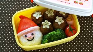 how to make super easy last minute santa claus bento lunch box