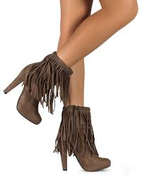 womens fringe boots size 11 breckelles phoebe 11 suede fringe single sole chunky