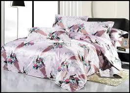 King Size Silk Comforter Natural Mulberry Silk Comforter Bedding Set Pink Peacock Bird King