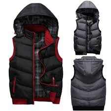 jeep rich jacket mens vest jackets winter hooded padding vest jacket coat