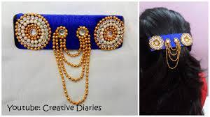designer hair accessories how to make designer silk thread hair clip from an ordinary clip i