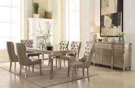 champagne dining room furniture kacela 5pc dining set 72155 in champagne by acme w options