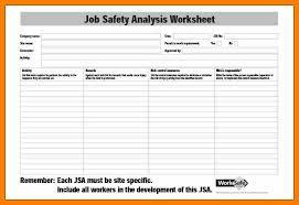 needs analysis job analysis template risk matrix job safety