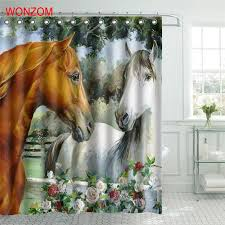 buy horse shower curtain hooks and get free shipping on aliexpress com