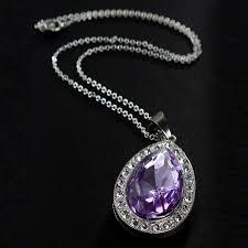 purple necklace chain images 2017 retail 1pc sofia amulet purple pink water drop chain necklace jpg