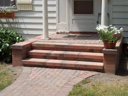 nice front porch step designs with naturan brick front porch step