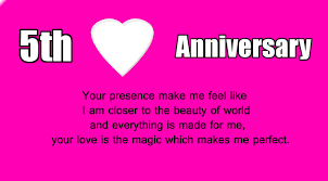 New Wedding Anniversary Message To 5th Wedding Anniversary Wishes For Husband Wishes4lover