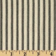 Black Ticking Curtains Vertical Ticking Stripe Black Ivory Discount Designer Fabric