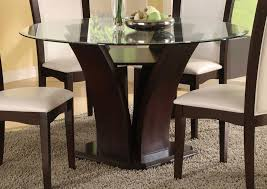 Dark Wood Dining Tables Round Glass Dining Table Wood Base 85 With Round Glass Dining