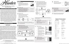 Tx47 Remote Control For Ceiling Fan User Manual Hunter Fan Company