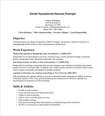 resume examples receptionist resume ixiplay free resume samples